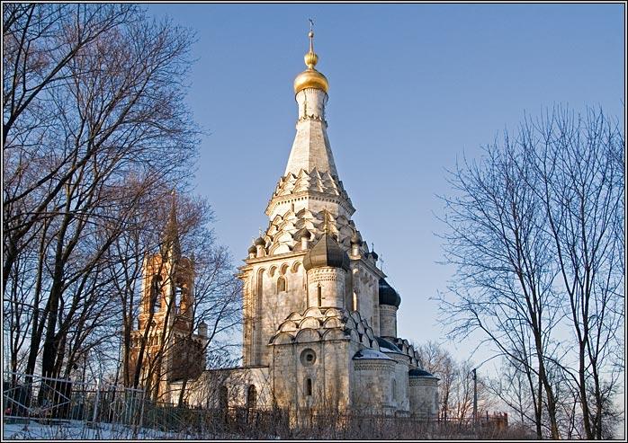 Церковь Спаса Преображения-Остров-Ленинский район-Московская область