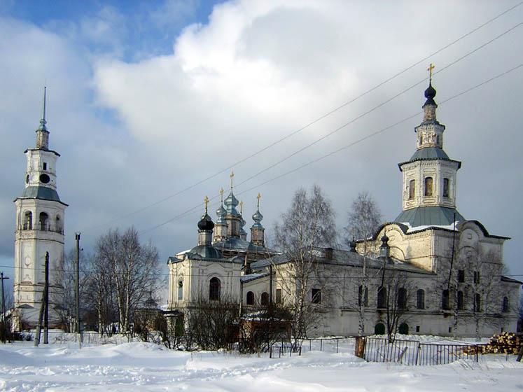 Ансамбль Воскресенского собора с колокольней и Благовещенской церкви, Лальск