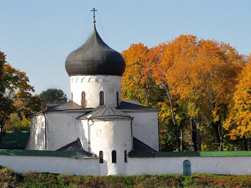 Мирожский монастырь. Собор Спаса Преображения, Псков