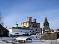 Храмовый комплекс Архиерейского двора - Холмогоры - Холмогорский район - Архангельская область