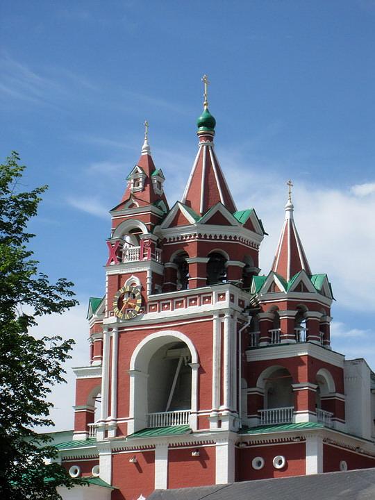 Саввино-Сторожевский монастырь. Звонница с церковью Сергия Радонежского, Звенигород