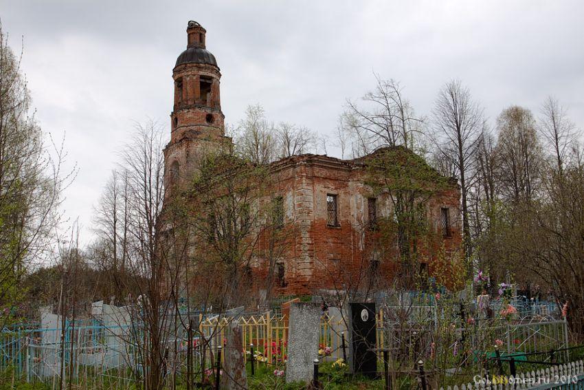Церковь Воздвижения Креста Господня-Шашково-Рыбинский район-Ярославская область