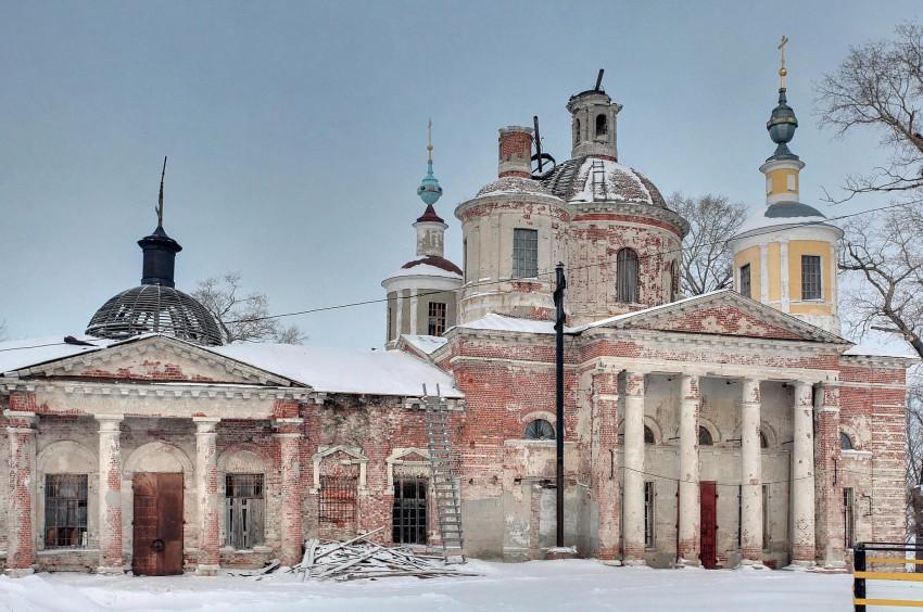 Церковь Воскресения Христова-Ловцы-Луховицкий район-Московская область