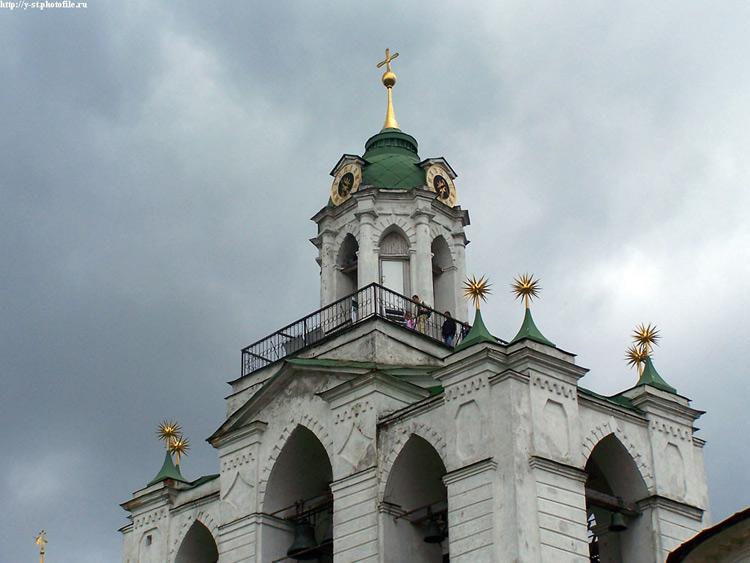 Спасо-Преображенский монастырь. Звонница с церковью Печерской иконы Божией Матери, Ярославль
