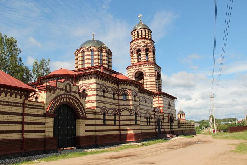 Николаевский Малицкий мужской монастырь. Церковь Покрова Пресвятой Богородицы, Николо-Малица