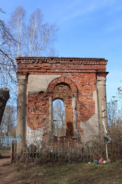 Неизвестная часовня на городском (Володарском) кладбище, Сольцы
