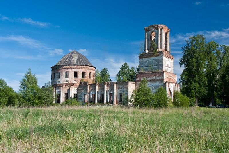 Церковь Троицы Живоначальной-Поповское-Сокольский район-Вологодская область