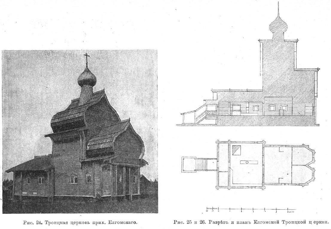 Церковь Троицы Живоначальной, Елгомская Пустынь, урочище