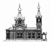 Кронштадт. Сергия Радонежского на Военно-Морском кладбище, церковь