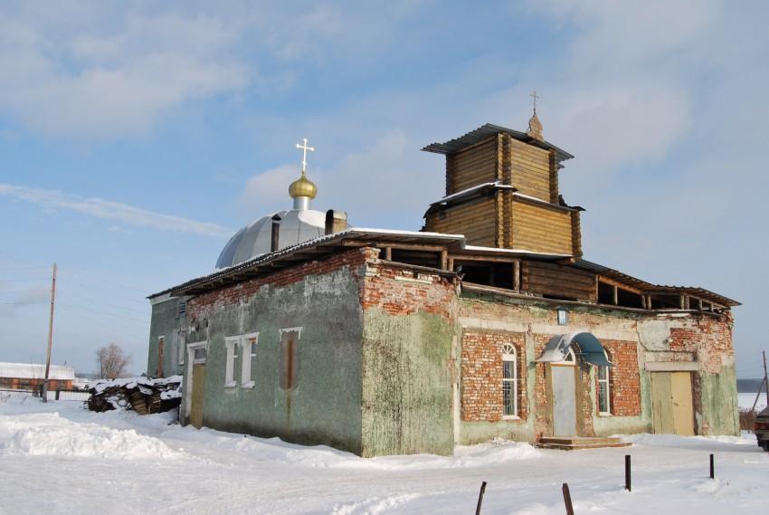 Церковь  Тихвинской иконы Божией Матери (временная), Атиг