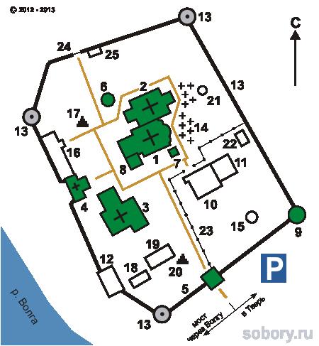 План Старицкого Успенского  монастыря, Старица