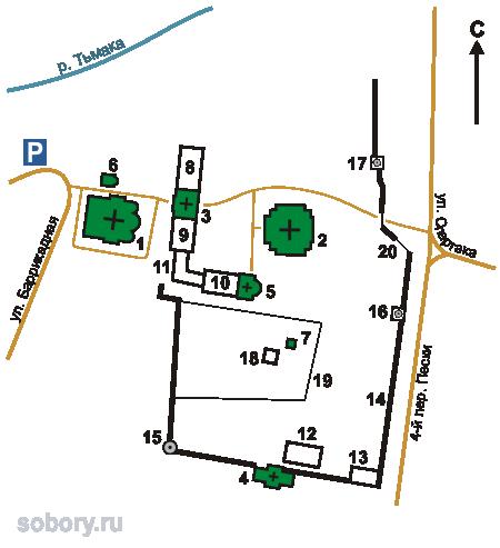 План Христорождественского монастыря,Тверь