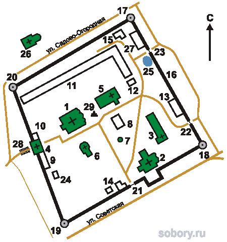 План  Свято-Успенского монастыря,Владимирская область