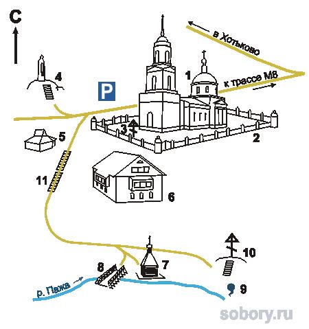 План подворья Троице-Сергеевой
