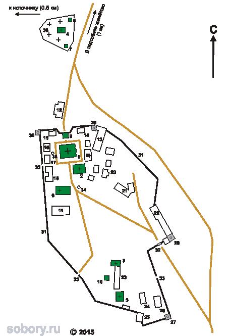 План Успенского Пюхтицкого монастыря