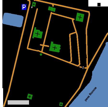 План Юрьева  монастыря,Великий Новгород (Юрьев)