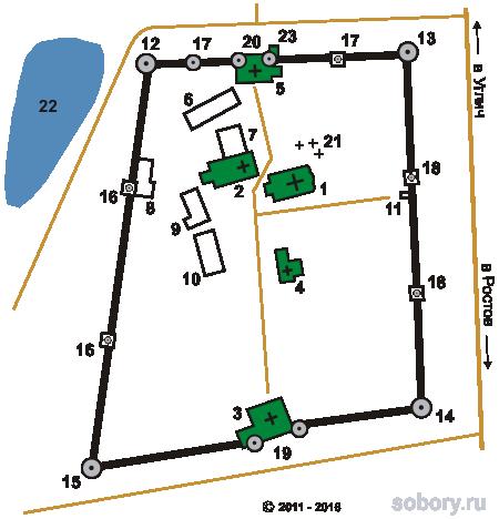 План Борисоглебского  монастыря, Ярославская область