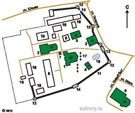 План Никольского монастыря в Переславле-Залесском