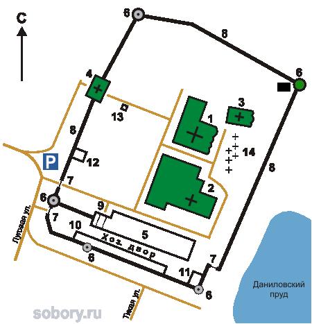 План Троицкого Данилова монастыря, Переславль-Залесский