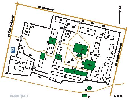 План Задонского Рождество-Богородицкого монастыря
