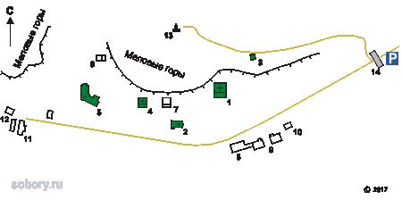 План Костомаровского Спасского монастыря