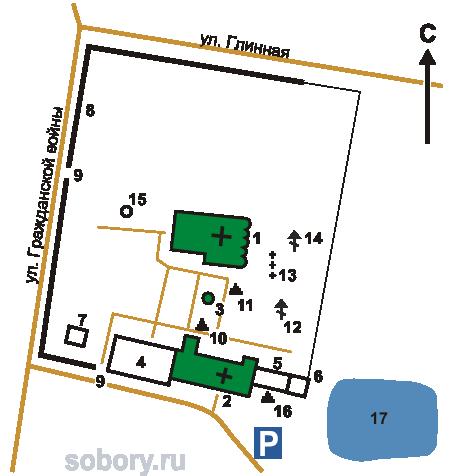 План Иоанна-Предтеченского монастыря,Вязьма,Смоленская область
