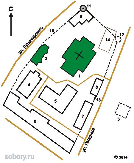 План Николаевского Староторжского монастыря в Галиче