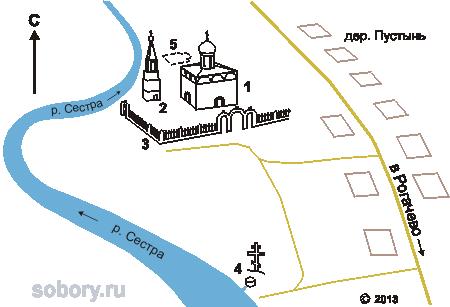 План Медведевой Пустыни, Медведева Пустынь