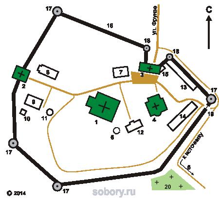 План Свенского Успенского монастыря