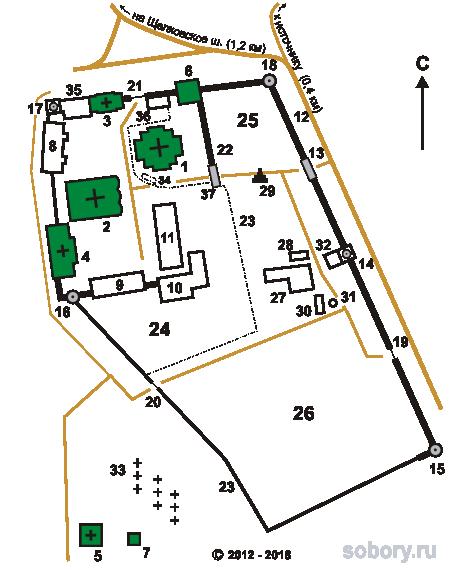 План  Николо-Берлюковской пустыни,Московская область