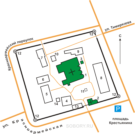 План Благовещенского  монастыря, Муром