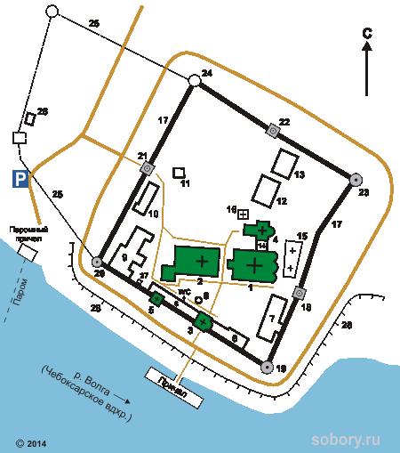 План Троицкого Макариева Желтоводского монастыря