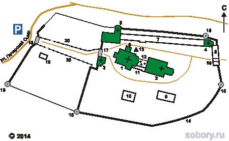 План Печерского Вознесенского монастыря в Нижнем Новгороде