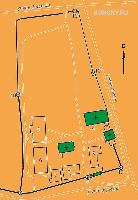 План Ризоположенского монастыря, Суздаль