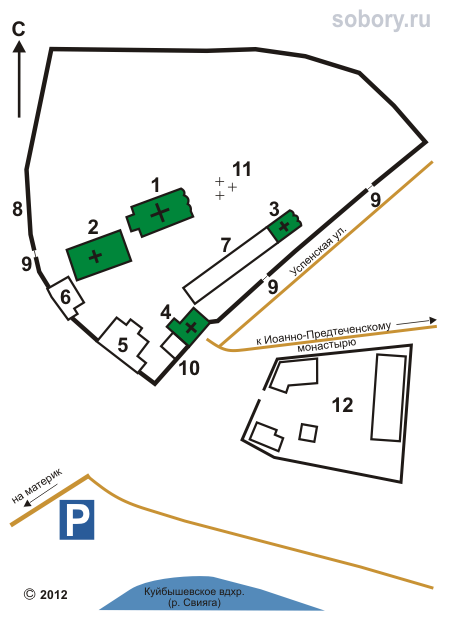 План Успенско-Богородичного монастыря,Свияжск