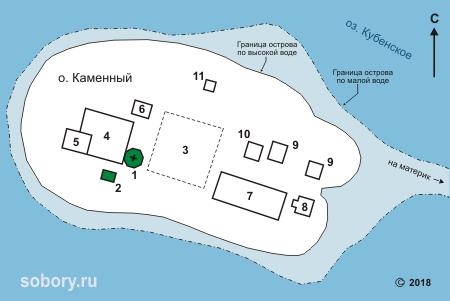План Спасо-Каменного Преображенского монастыря