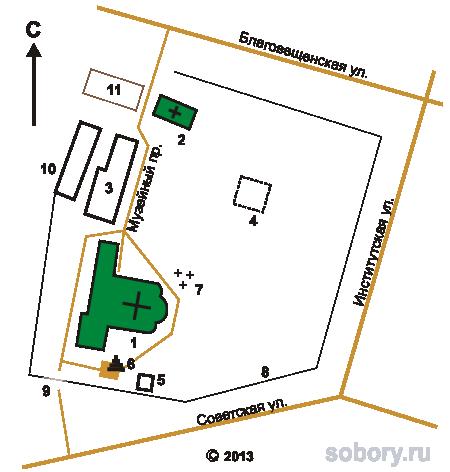 План Благовещенского монастыря в Вязниках