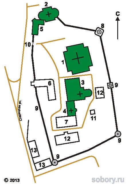 План Борисоглебского монастыря, Торжок