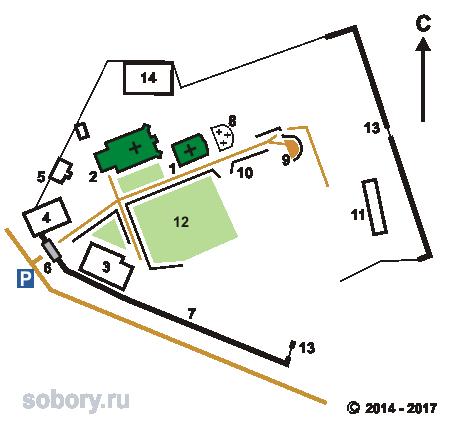 План Спасо-Воротынского монастыря