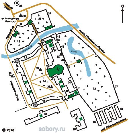План Александро-Невской лавры