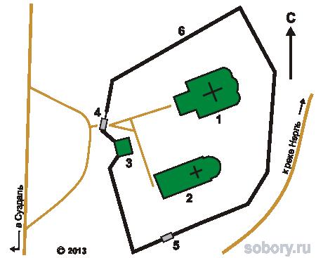 План Борисоглебского монастыря в Кидекше