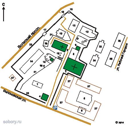 План Самарского Иверского монастыря,Самара, Самарская область