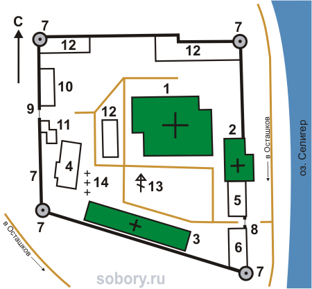 План Житенного Смоленского  монастыря,Осташков