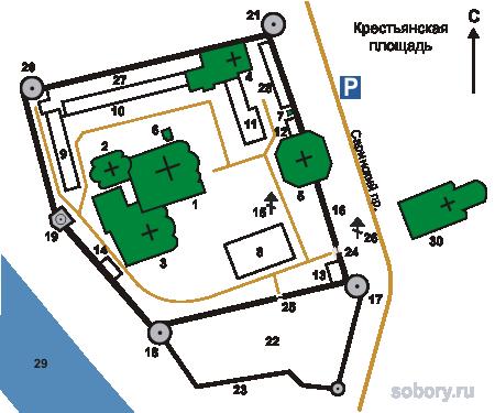 План Новоспасского монастыря