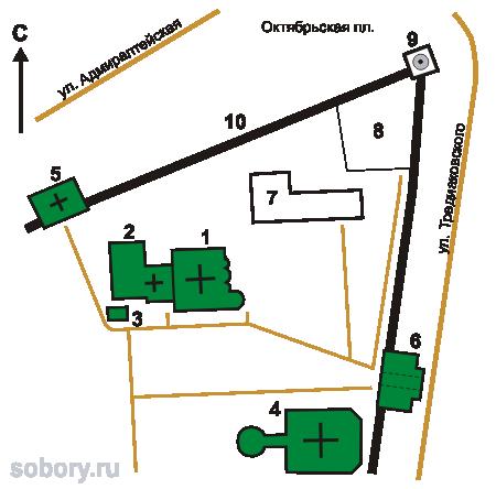План Троицкого монастыря в Астрахани