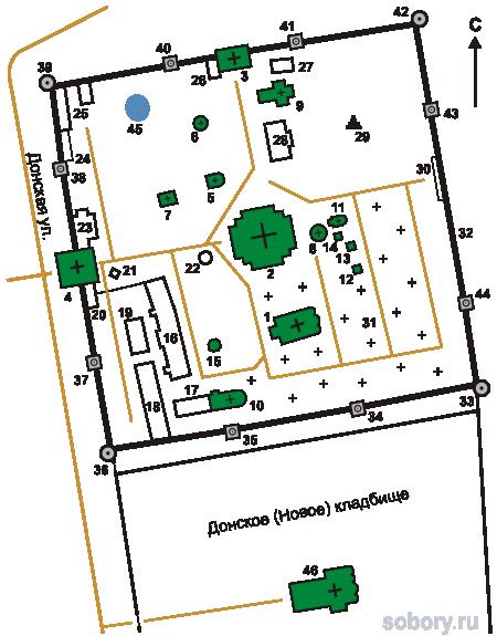 План Донского монастыря