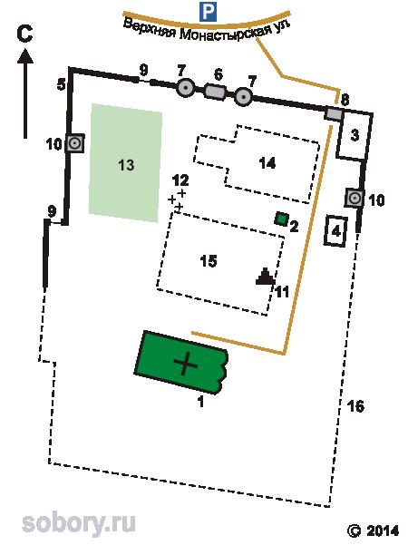 План Троицкого Рождества Богородицы Оптина монастыря в Болхове