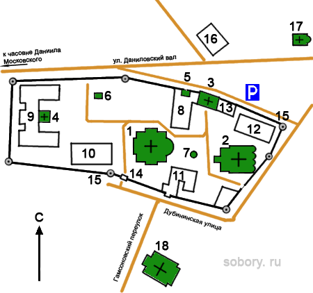 План Свято-Данилова монастыря,