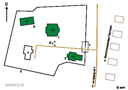 План Золотниковской Успенской пустыни