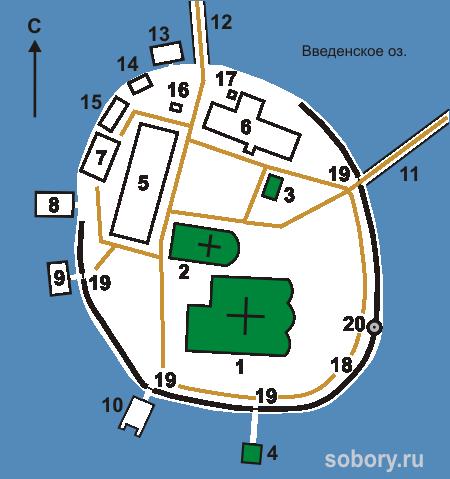 План Покровской Свято-Введенской Островной женской пустыни, Введенское
